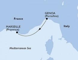 1 Noche por Italia, Francia a bordo del MSC Magnifica